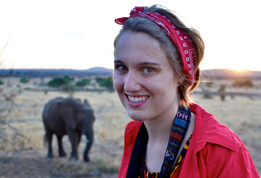 Meghan learned about challenges national parks face in Tanzania.