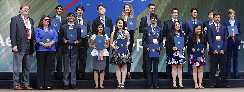 NASA award winners from Intel ISEF 2016.