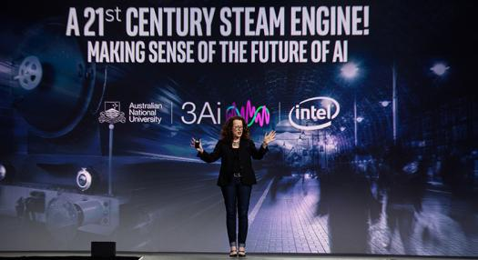 Genevieve Bell was the keynote speaker at the ceremony. She looks to the history of the steam engine to understand the future of artificial intelligence.