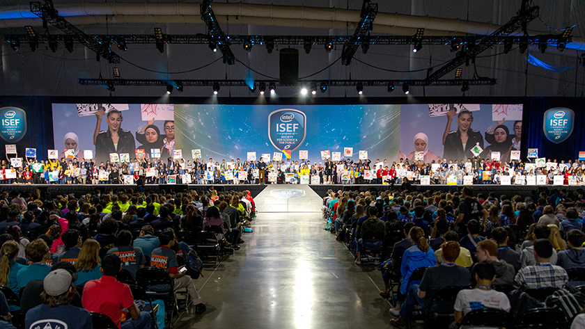 At the Intel ISEF 2018 opening ceremony, finalists around the world share their passion for science.