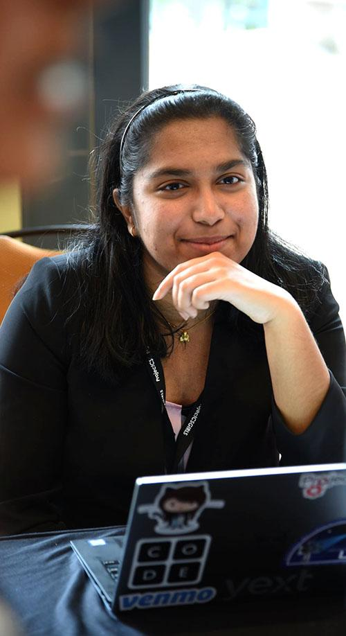 Pooja Chandrashekar founded ProjectCSGirls in high school.
