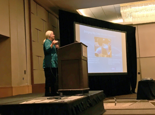 Ruth Krumhansl of the Oceans of Data institute speaks at the 2017 Research Teachers Conference.