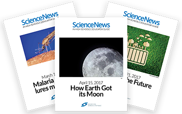 Through Science News in High Schools, teachers gain access to Educator Guides.