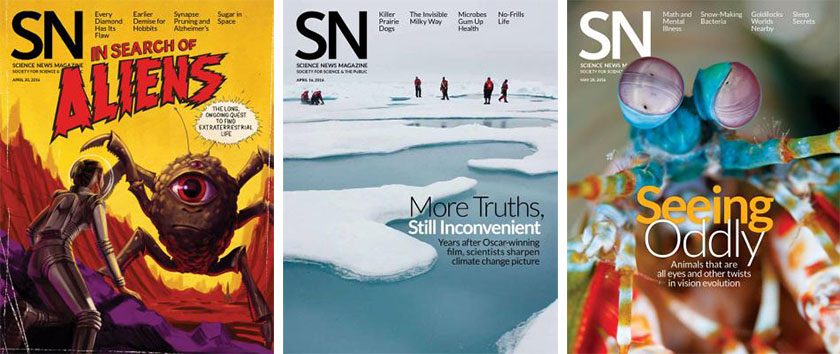 Science News covers.