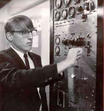 Al Swank as an Intel ISEF finalist in the 1960s.
