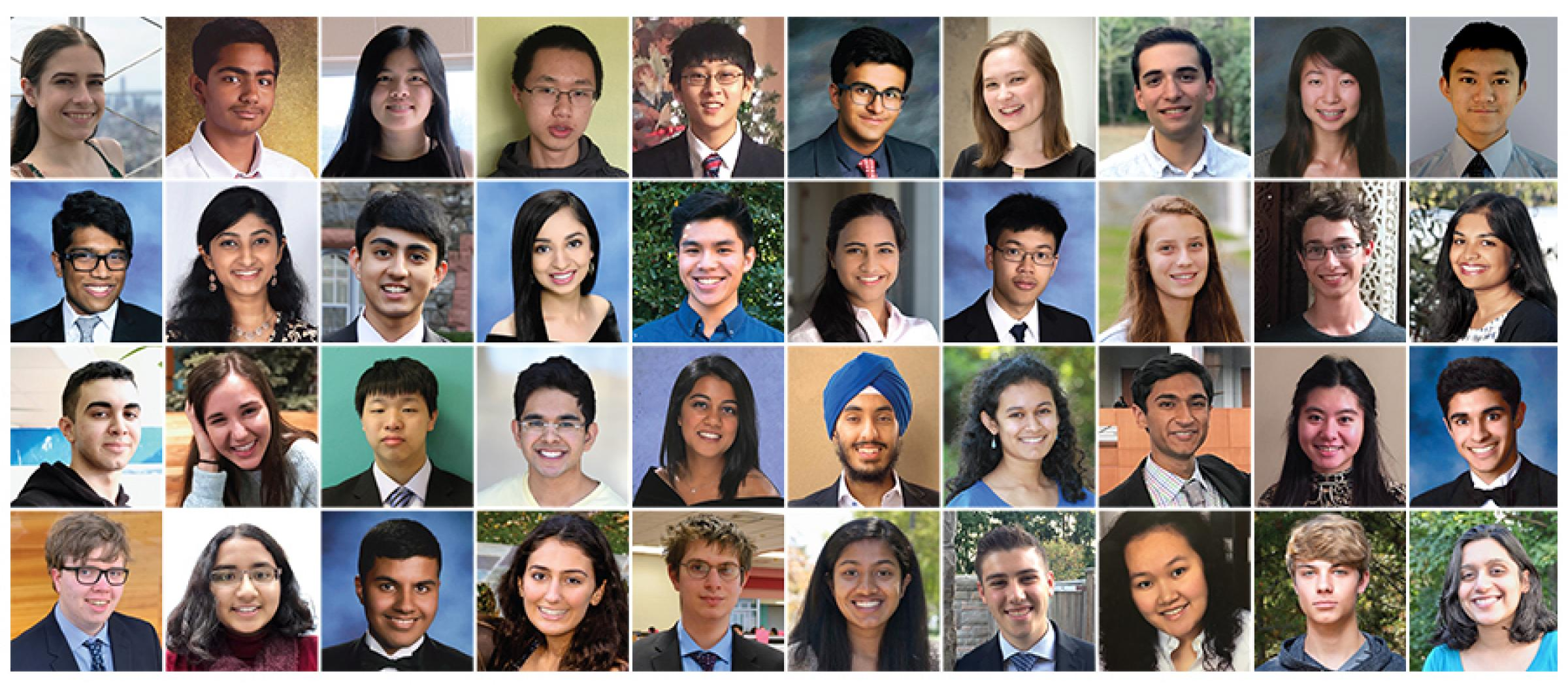 The 40 finalists in the 2019 Regeneron Science Talent Search