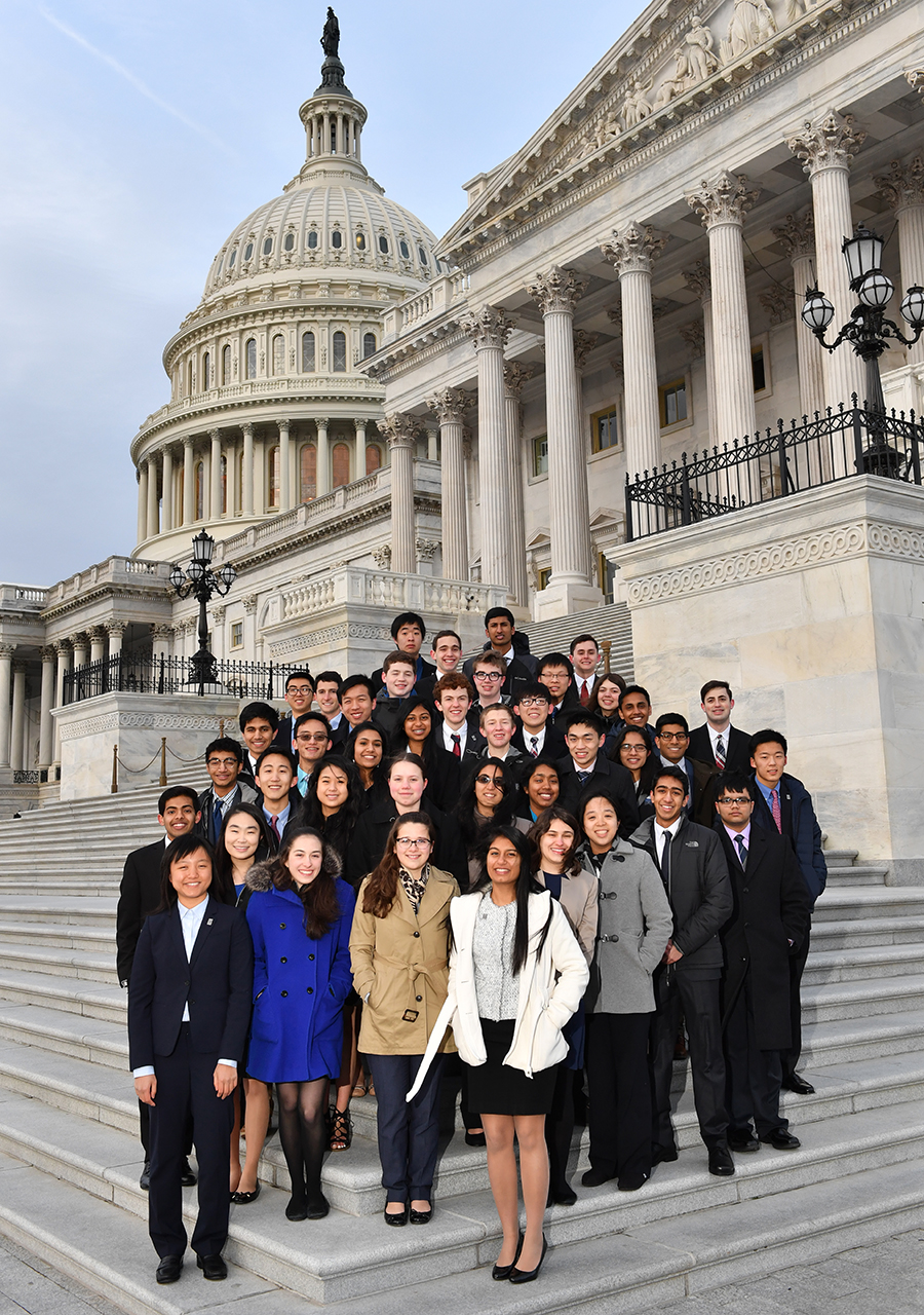 Regeneron STS 2017 finalists on the steps of the Capitol.