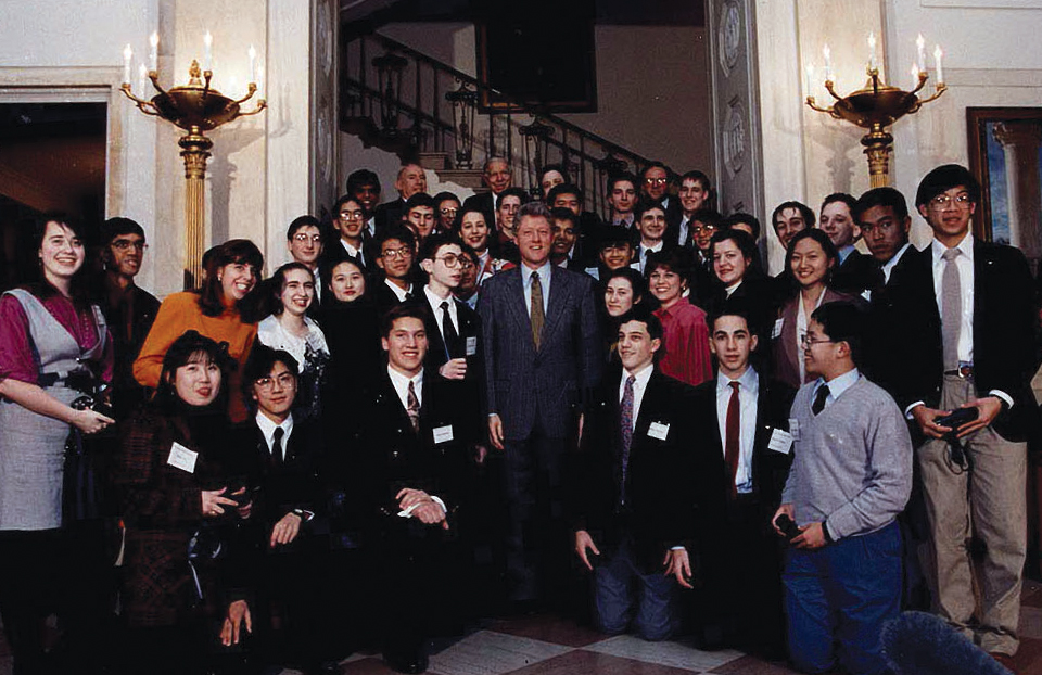 1993 Science Talent Search Finalists - President Bill Clinton. Westinghouse STS.