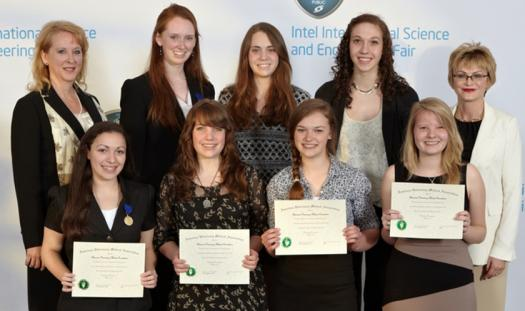 Jamie Odzer (top middle row) received a Special Award from the American Veterinary Medical Association at Intel ISEF 2012.