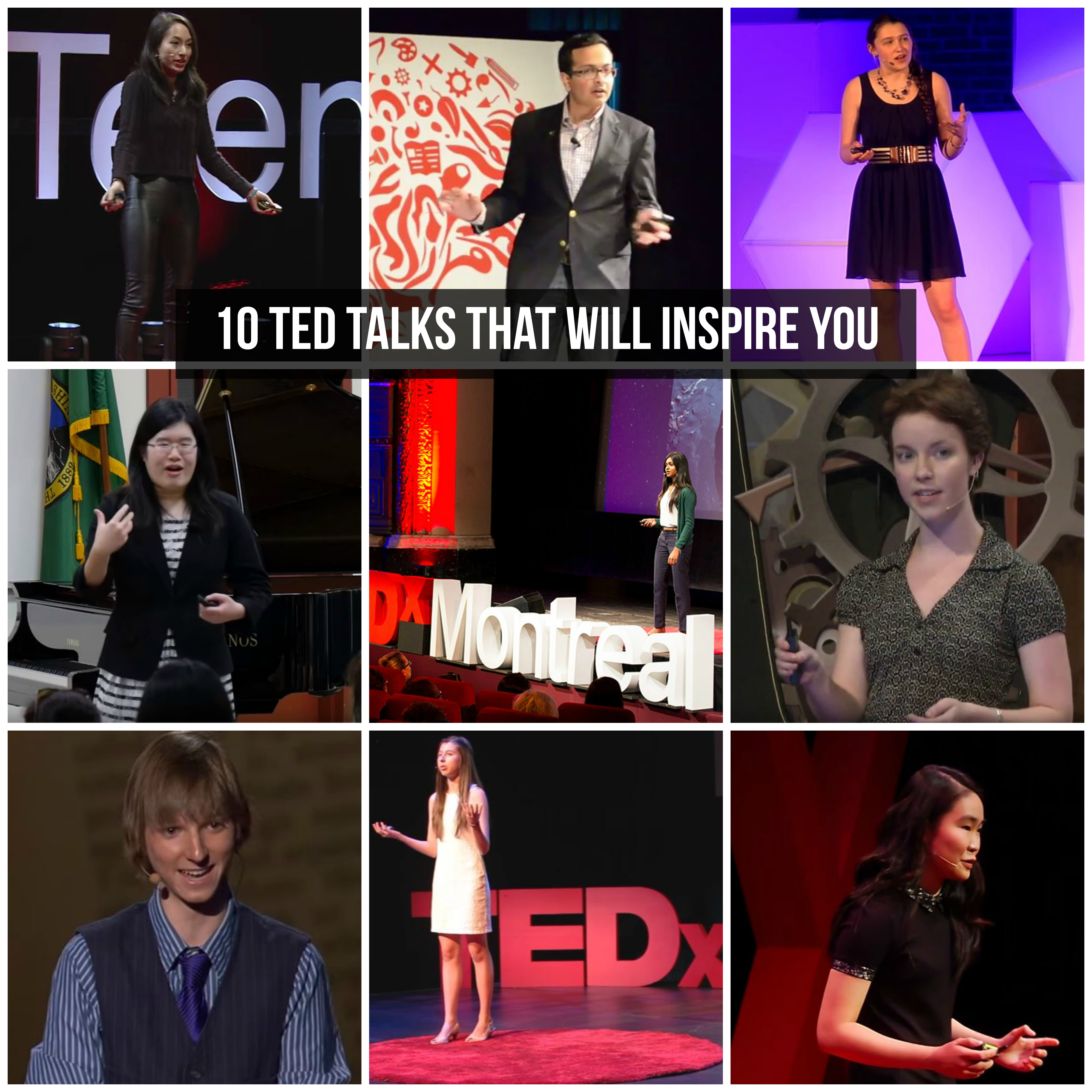 10 TED talks that will inspire you