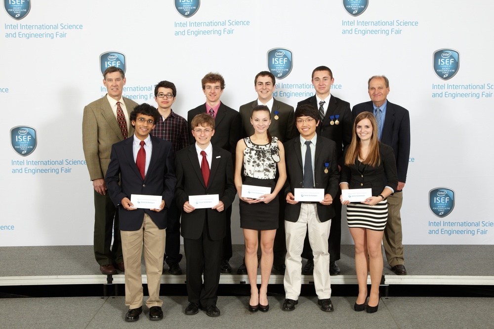 Carolin Lachner (front row, far right) receives a Special Award at Intel ISEF 2012
