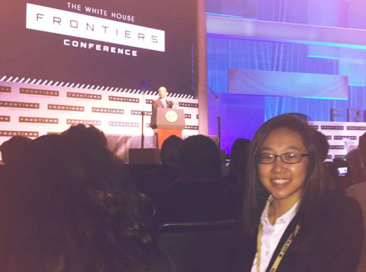 Jiwoo listened to speakers from various scientific disciplines at the White House Frontiers conference.