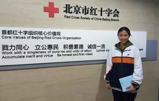 XiWen visited the local offices of the Red Cross in China to learn more about first aid responses in her country.