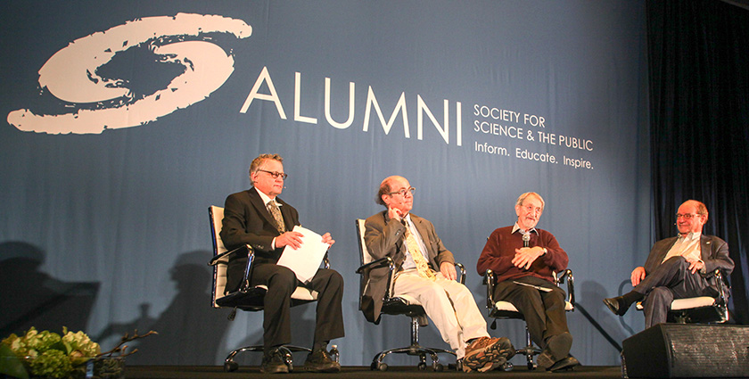 Three Nobel Laureates discussed their scientific journeys and how the Westinghouse STS encouraged them along.