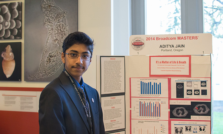 Applying for Broadcom MASTERS was life changing for Aditya.