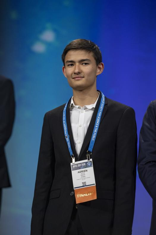 Adrien at the ISEF 2019 Grand Awards Ceremony