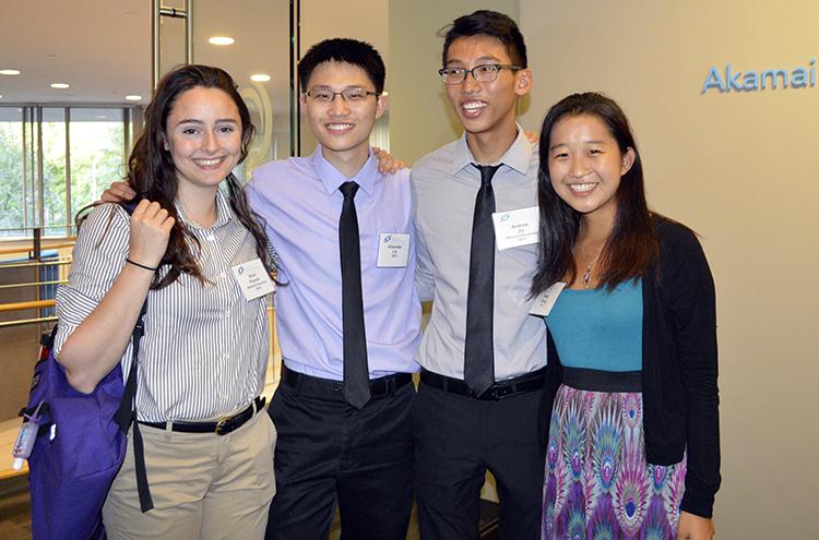 STS alumni at the Akamai Reception.
