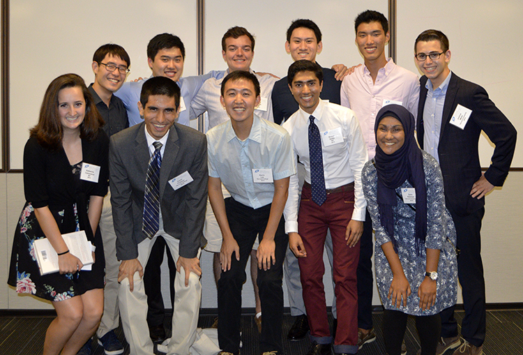 The STS Class of 2014 reconnected at the reception.