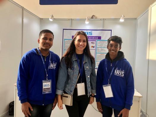 Anna with two IRIS Fair participants