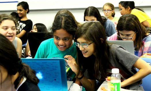 Anvita uses several programming technologies to introduce middle school girls to computer science.