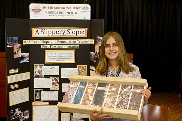 Rebecca Bloomfield at her 2013 Broadcom MASTERS project