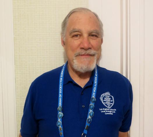 Chuck Vukotich has volunteered at Intel ISEF for the past eight years.
