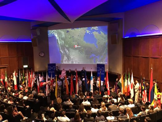 Opening ceremony of the 2017 London International Youth Science Forum.