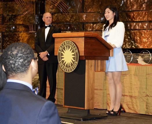 Joy Jin was a $25,000 scholarship recipient for her lung cancer research.