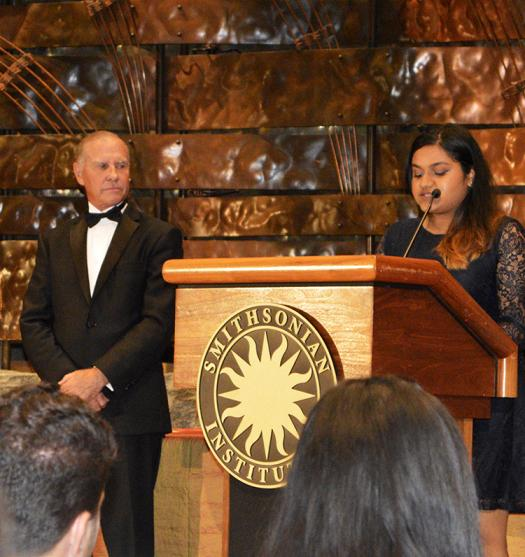 Swetha Shutthanandan received a $50,000 scholarship for her research on energy storage devices.