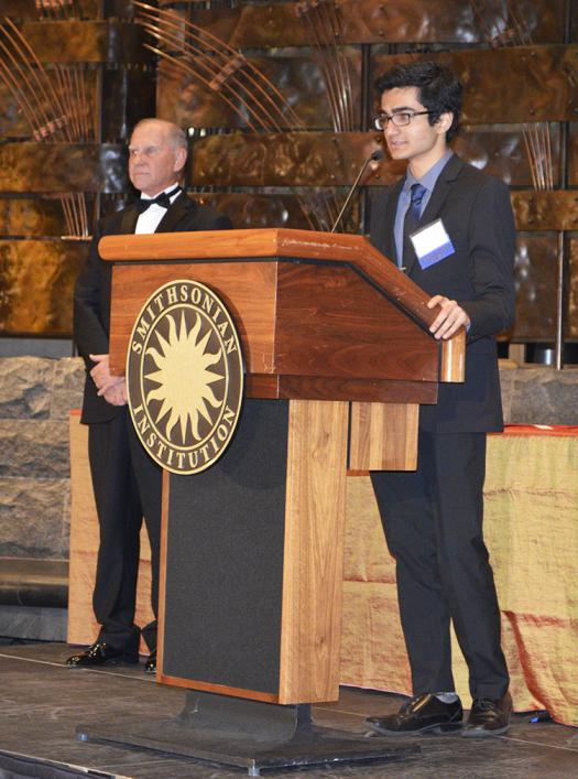 Dhaivat Pandya was one of the $50,000 scholarship recipients for his research on encoding and decoding information.