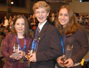 Joseph Stunzi (center) won first place in DCYSC 2003.