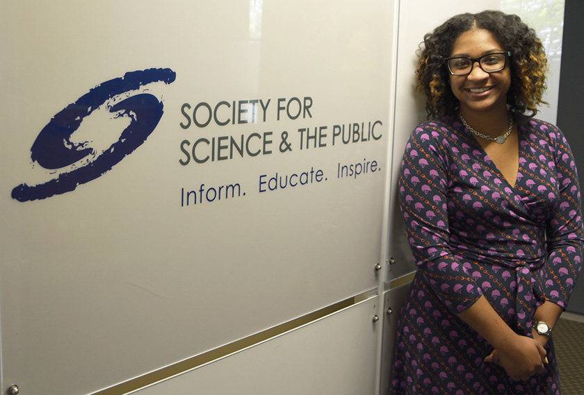 Dedrain Davis interned with the Society's marketing team, writing media pitches and more.