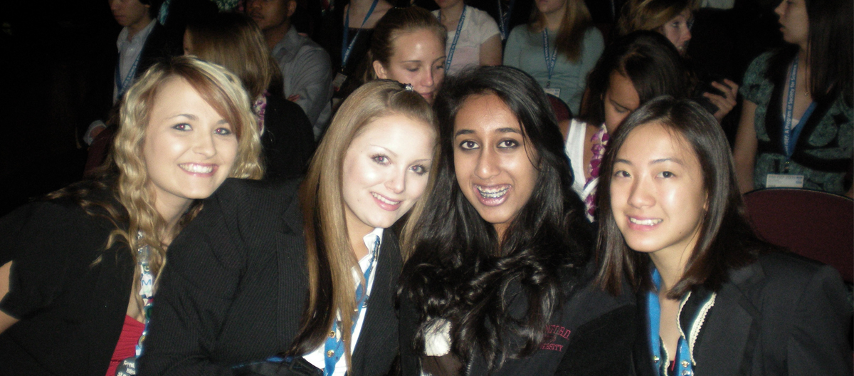 Divya Nag (second right) at the Intel International Science and Engineering Fair, 2009