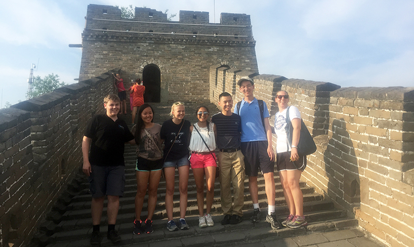 Intel ISEF finalists visit the Great Wall of China.