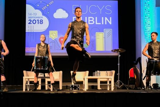 EUCYS competitors were treated to a show of a traditional Irish dance