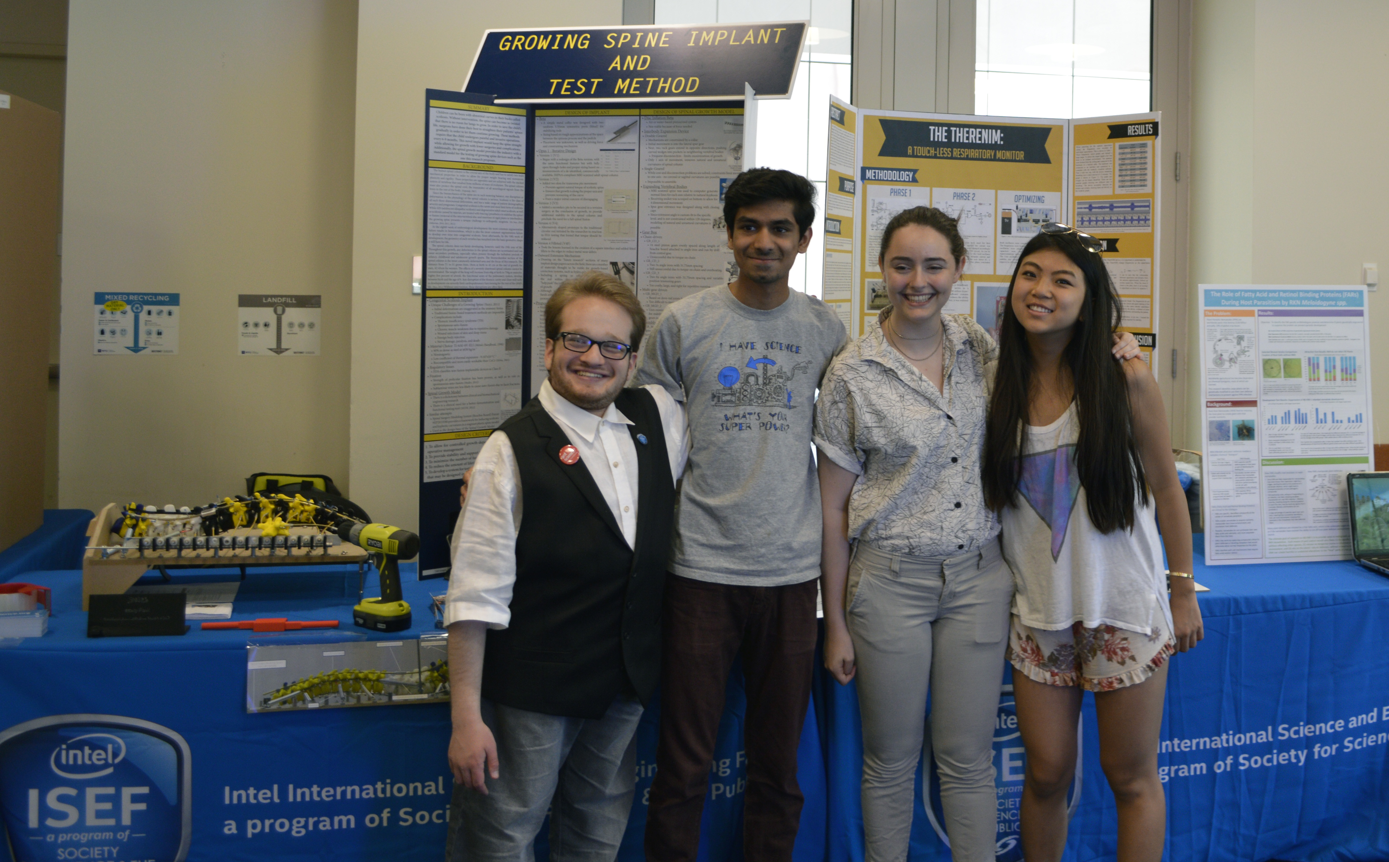 Society alumni Harry Paul, Eswar Anandapadmanaban, Kalia Firester, and Tiffany Sun were invited to present their research at the World Science Festival in New York.