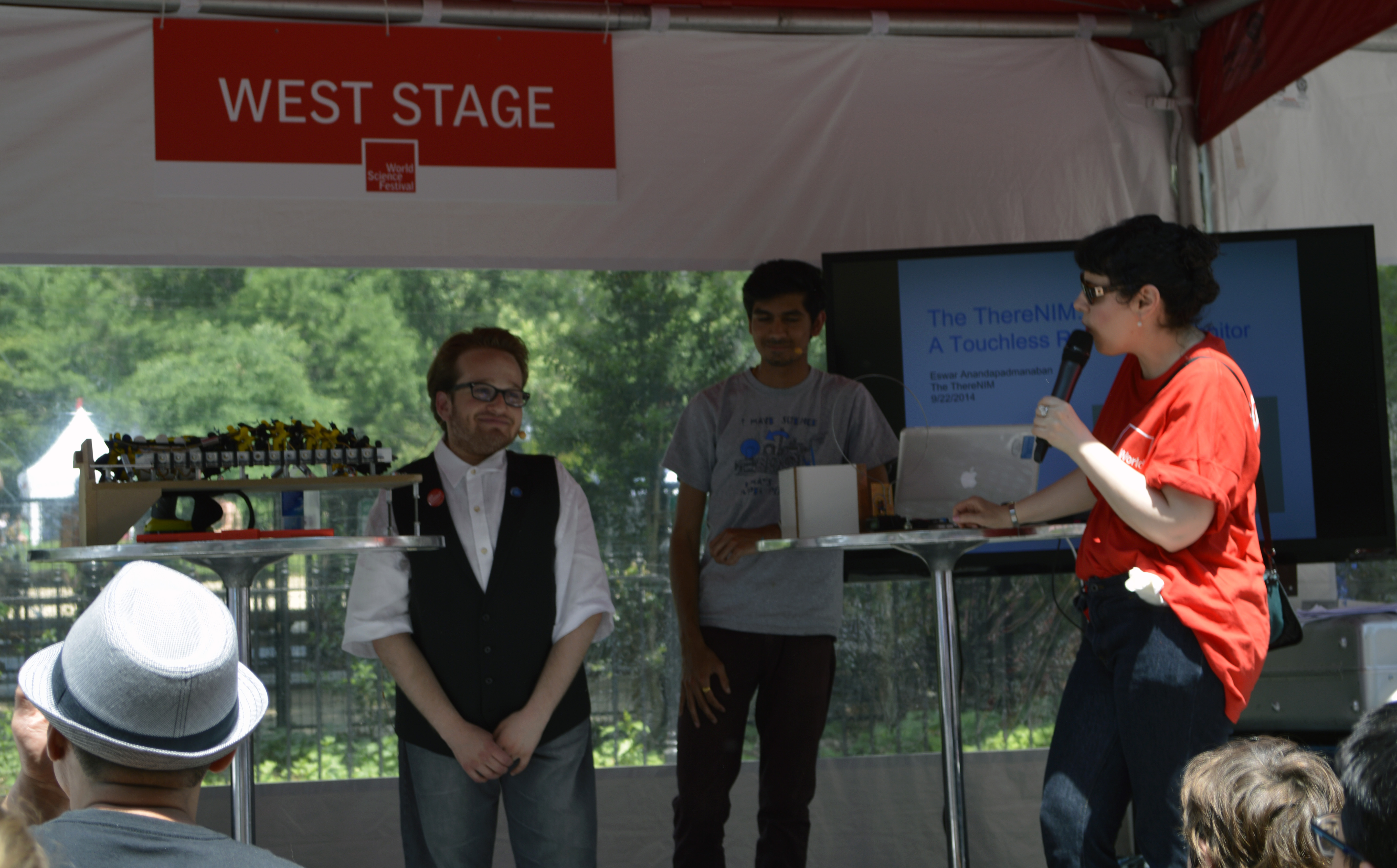 Harry and Eswar were also asked to participate in a Q&A about their research in front of a live audience.