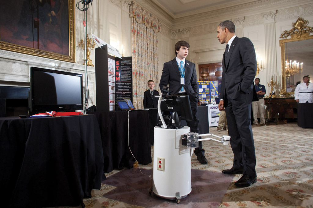 President Obama at the White House Science Fair