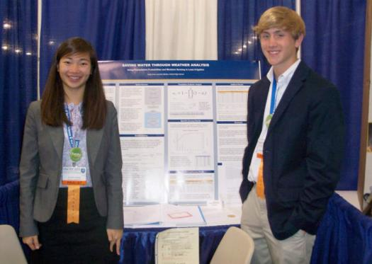 Cathy Chen participated in Intel ISEF for four years. Her science fair partner was Alexander.
