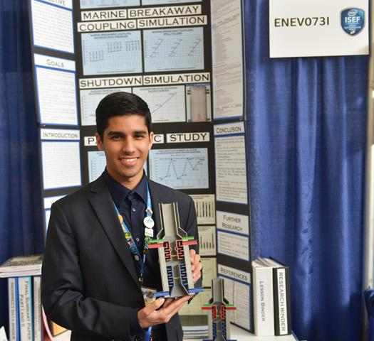 Karan presented his subsea wellhead separation device at Intel ISEF 2015.