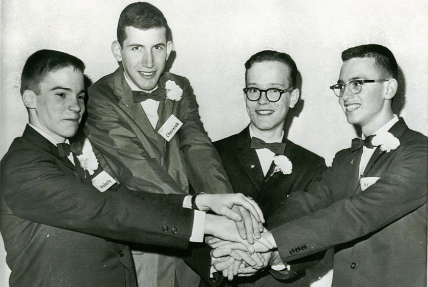 Leonard Gordy (right) with other Westinghouse STS 1962 finalists.PHOTO COURTESY OF LEONARD AND JUDITH GORDY.