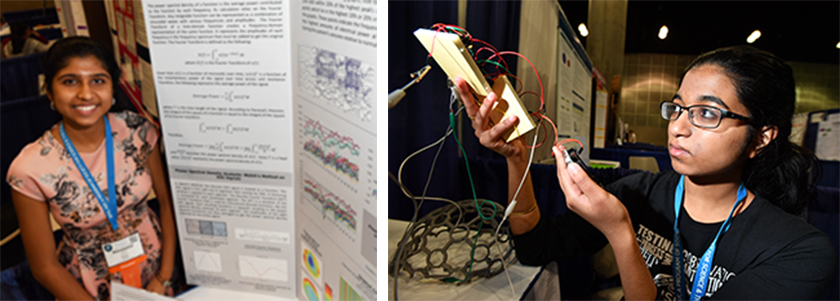 Neha and Maanasi came up with techniques to analyze brainwaves of seizures in people with epilepsy.