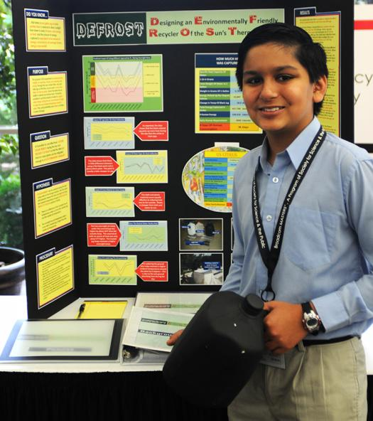 Nikhil presents his research in 2011.