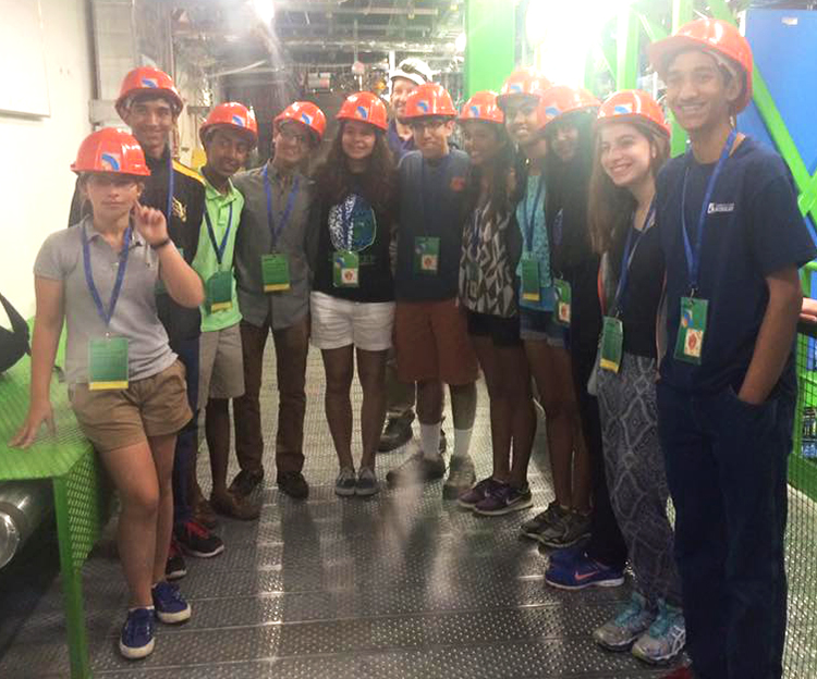 Nitya visited CERN with several other Intel ISEF 2015 finalists.
