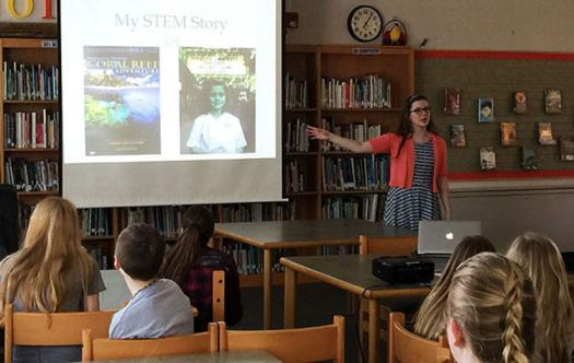 Olivia presented her STEM story to over 300 middle school students around New York.