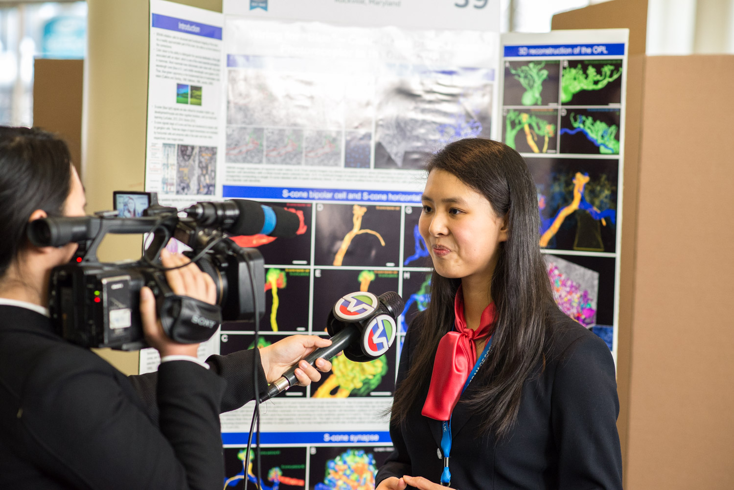 Throughout the afternoon, the finalists spoke with the media about their impressive research.