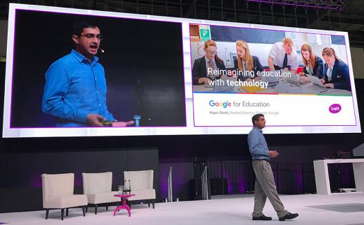 Last year Rajen Sheth gave the keynote address at an education conference.