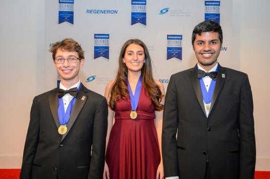 The top 3 winners of the Regeneron Science Talent Search 2019, Sam Weissman, Ana Humphrey and Adam Ardeishar