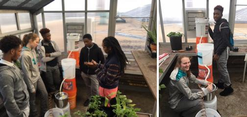 Sherry Richardson's students built a water purification prototype system.