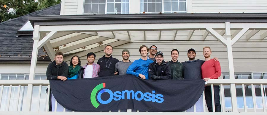 Shiv Gaglani and M. Ryan Haynes with the Osmosis team.
